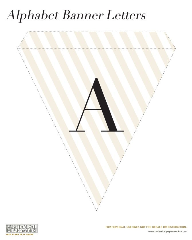free printable} Alphabet Banner for All Occasions Creative