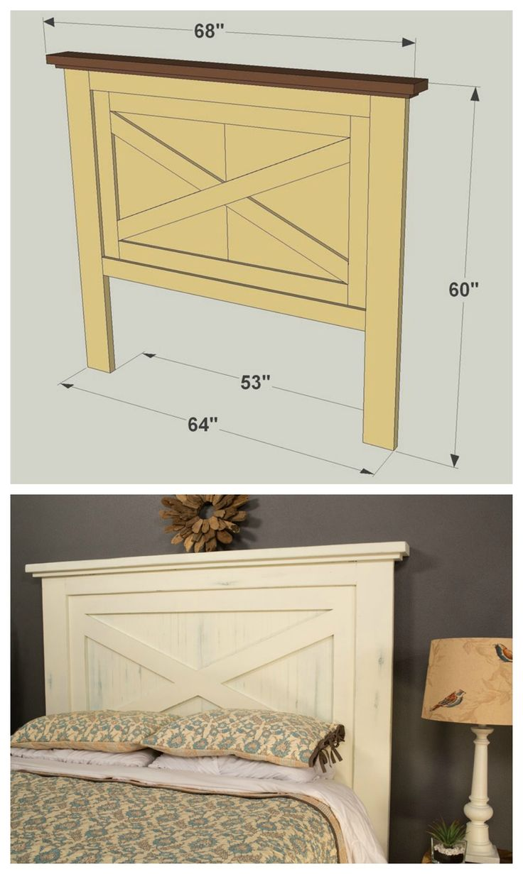 DIY Farmhouse Headboard :: Get the FREE PLANS for this project and many others at http://diygods.com/outdoor-furniture-plans/
