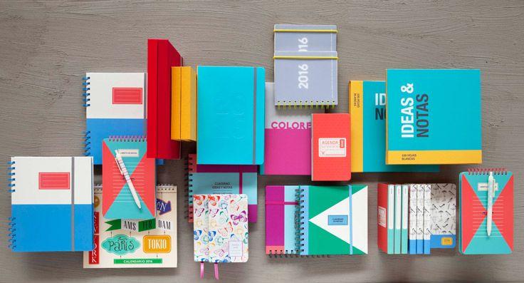 Los lunes volvemos renovados después de tantas celebraciones! Si quieres hacer tu semana más alegre, ven por los nuevos cuadernos y libretas que tenemos en Casaideas. Primavera - Verano 2016