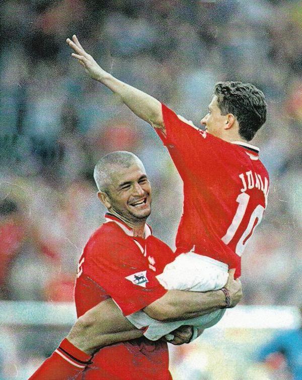 Stars of Middlesbrough FC in 1990s - Fabrizio Ravanelli and Juninho Paulista