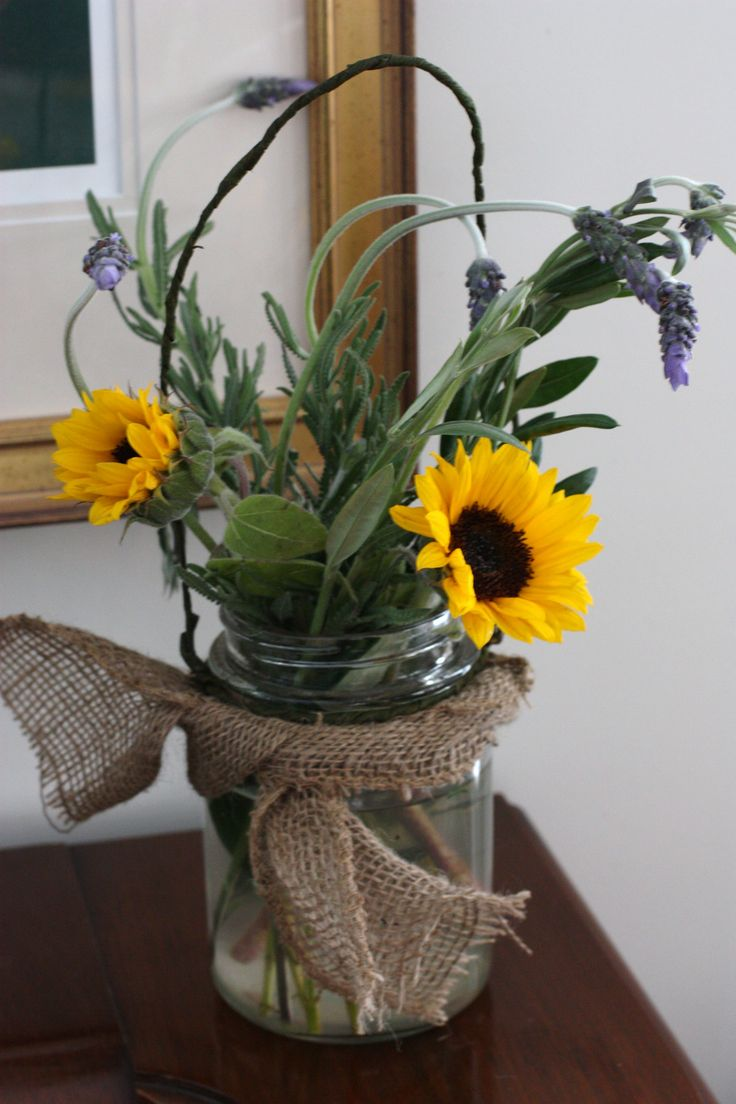sunflowers lavender