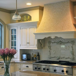 Mediterranean Kitchen Kitchen Peninsula French Country Design, Pictures, Remodel, Decor and Ideas-Details...