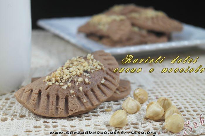 Ravioli dolci cacao e nocciole #senzaglutine #vegan #sugarfree e #senzalievito http://senzaebuono.altervista.org/ravioli-dolci-cacao-nocciole-senza-glutine-vegan/