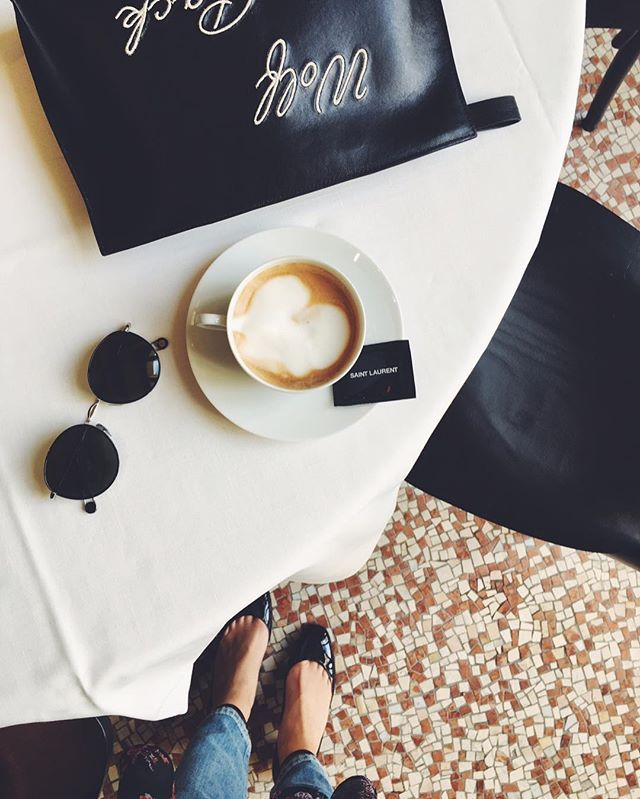 Kaffepause hos Saint Laurent  #ELLEiParis #modeuge #saintlaurent  via ELLE DENMARK MAGAZINE OFFICIAL INSTAGRAM - Fashion Campaigns  Haute Couture  Advertising  Editorial Photography  Magazine Cover Designs  Supermodels  Runway Models
