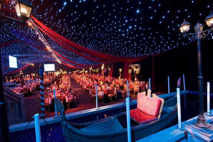 Venetian Themed events, gondola, charity ball - The Angels Events