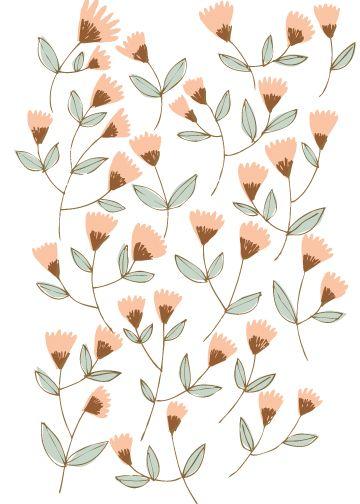 Denise HolmesPink Flower, Pattern Illustration, Cream Colors, Floral Graphics Design, Denis Holmes, Prints, Denise Holmes, Floral Pattern, Flower Pattern