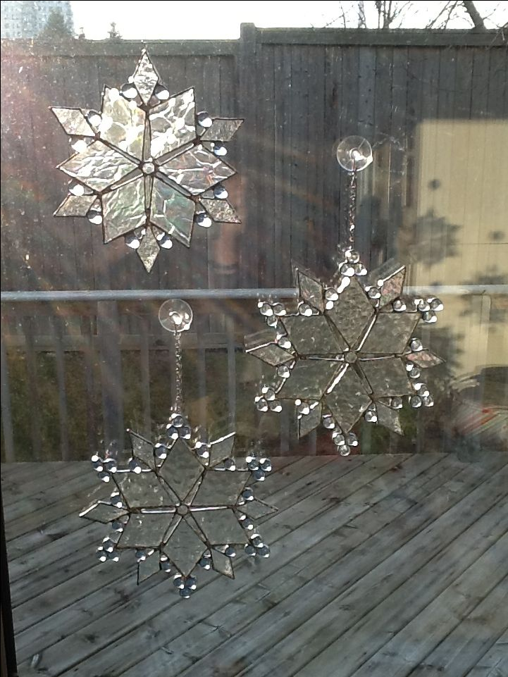 Snowflakes by Sarah Sally Stained Glass