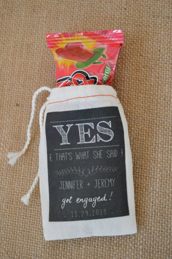 30 Custom Engagement Party Favor Bags by FrenchSilver on Etsy, $35.00