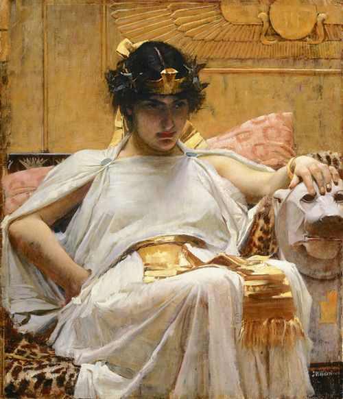 I love most pre-raphelite paintings but this is one of the best, Cleopatra by Waterhouse.