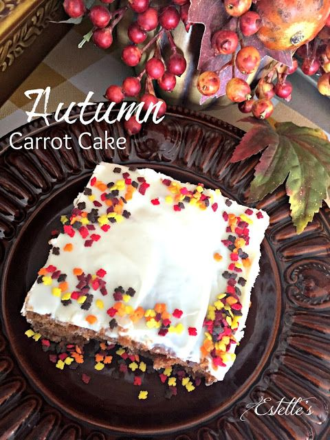 Estelle's: AUTUMN CARROT CAKE WITH CREAM CHEESE FROSTING
