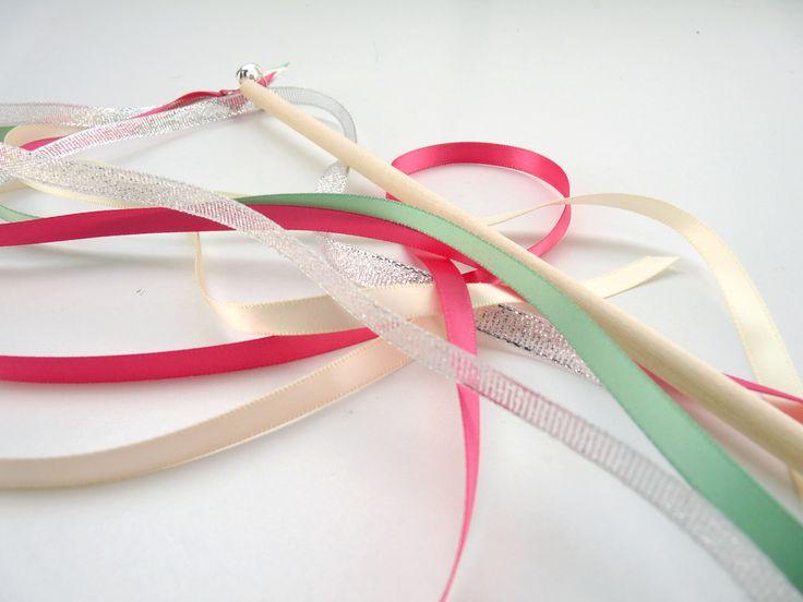 Baguette ruban DIY (version kit ou clé en main) Baguette ruban or et vert
