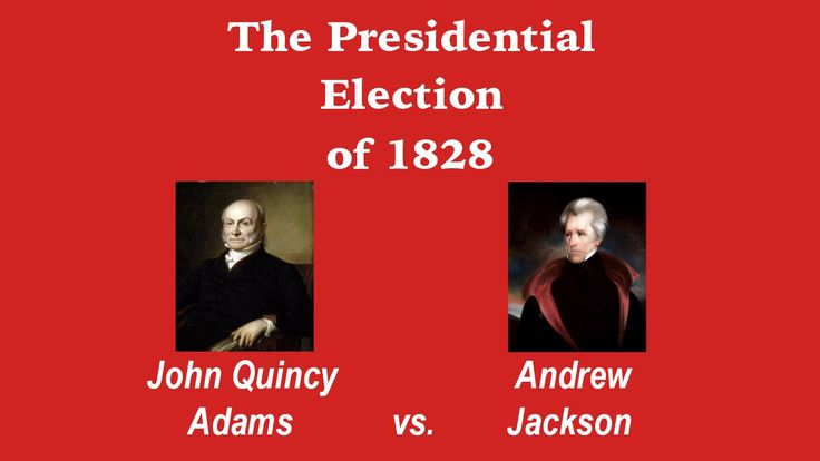 This clips is Andrew Jackson represented and John Adams Guicy and the election presidential in 1828