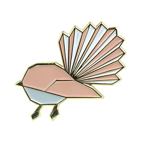 Fantail Geometric Pin Badge | NZ New Zealand - Buy Online ...