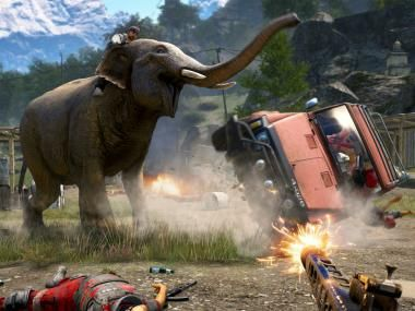 Far Cry 4 - How much damage can you do with one elephant and a box of TNT?