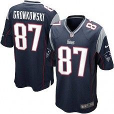 Youth Blue NIKE Game New England Patriots http://#87 Rob Gronkowski Team Color NFL Jersey$59.99