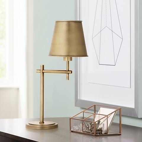 Robert Abbey Aiden Aged Brass Desk Lamp - #4Y156 | Lamps Plus