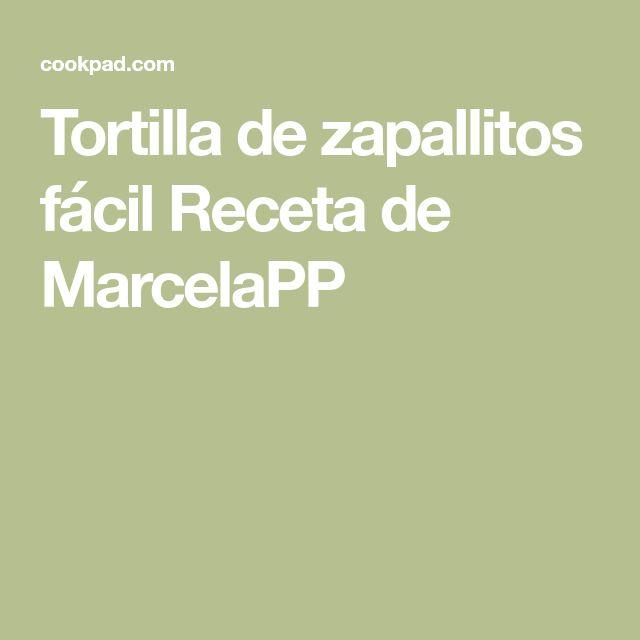 Tortilla de zapallitos fácil Receta de MarcelaPP