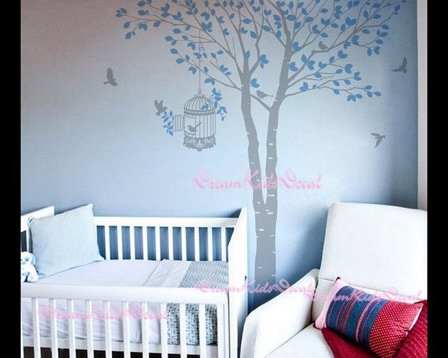 """Baum Wandtattoo perfekt für Ihren Kindergarten oder Kinderzimmer!   Der ganze Baum approx.180cm (71 """") hoch Die Abziehbilder können umgekehrt / gespiegelt werden. Nur erwähnen es in der Frage an..."""