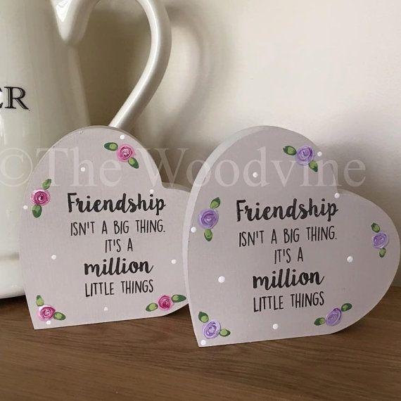 10cm Friendship Freestanding Wooden Hearts от TheWoodvine на Etsy