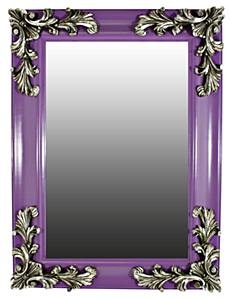 Purple & silver mirror