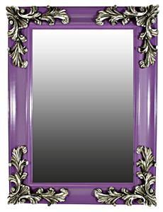 Purple & silver mirror