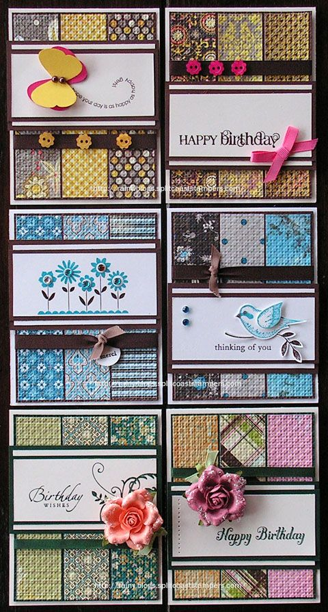 Fantastic way to use coordinating paper or scraps