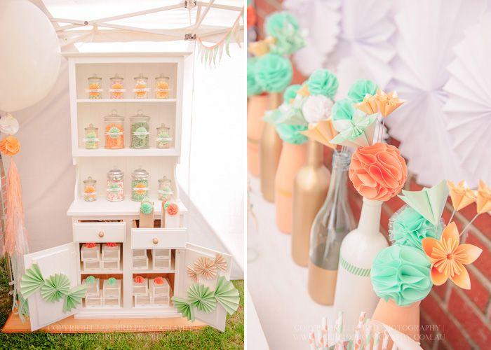 89 best Jessies Peach Mint Spring Wedding images on Pinterest