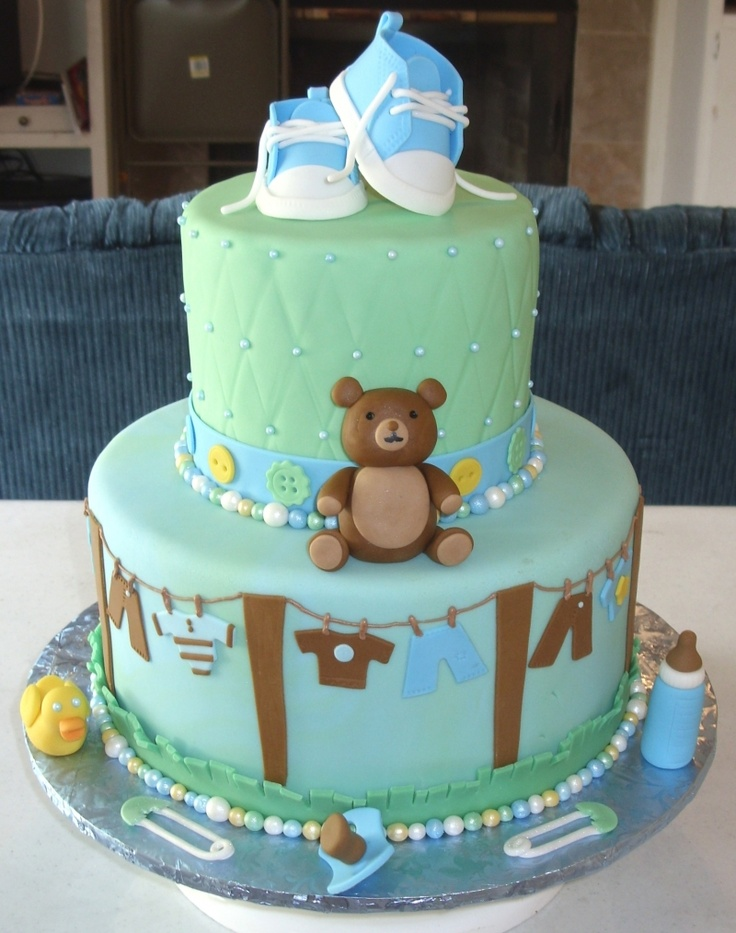 baby boy cakes boy baby shower cakes teddy bear cakes baby bears boy