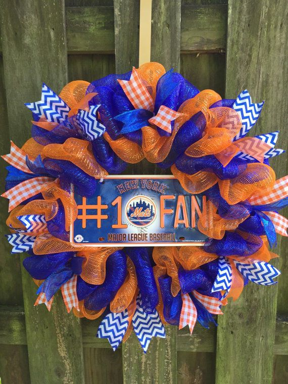 Mets Wreath,Mets Gift, #LGM ,Mets Decor, Mets Fan Gift,Mets,Baseball Wreath,