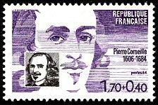 Timbre Pierre Corneille/stamp