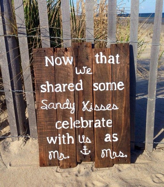 2014 Large Rustic Beach Wedding Sign, wood beach wedding signs.