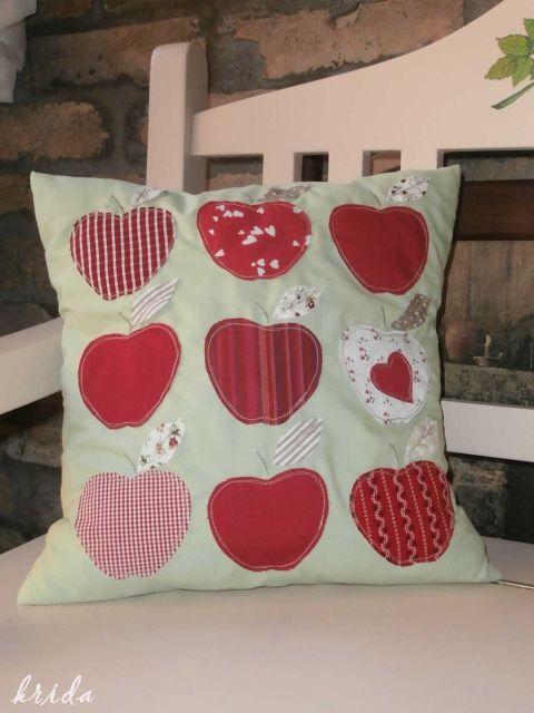 """""""Piros alma"""" - vidéki romantika díszpárnahuzat , Otthon, lakberendezés, Baba-mama-gyerek, Dekoráció, Gyerekszoba, Párna, Meska"""