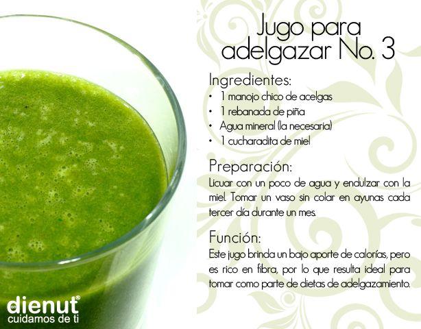 Que contiene el jugo verde para bajar de peso
