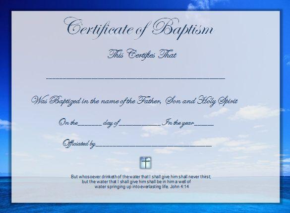 Baptism Certificate Template Download Word Certificate Template 31