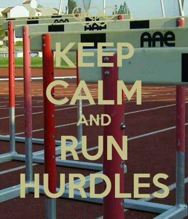 Hurdles! This would be awesome on a shirt