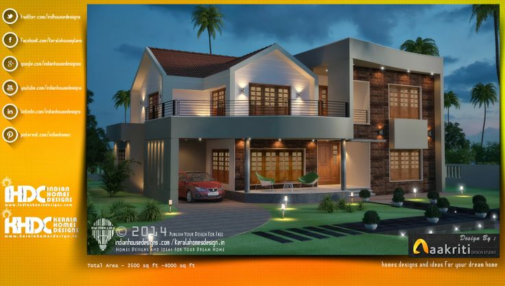This Latest House Designs within the 4000 sq ft  ( The Total area of this house they used 3800 sq ft ).