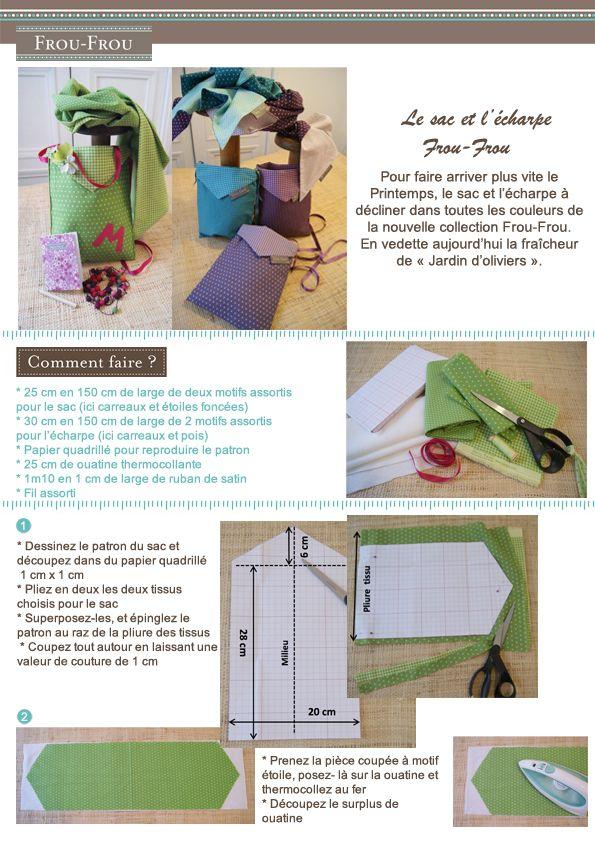 Fiche couture à télécharger : écharpe et le sac Frou-Frou | Mercerie Créative - Couture Facile I Paritys