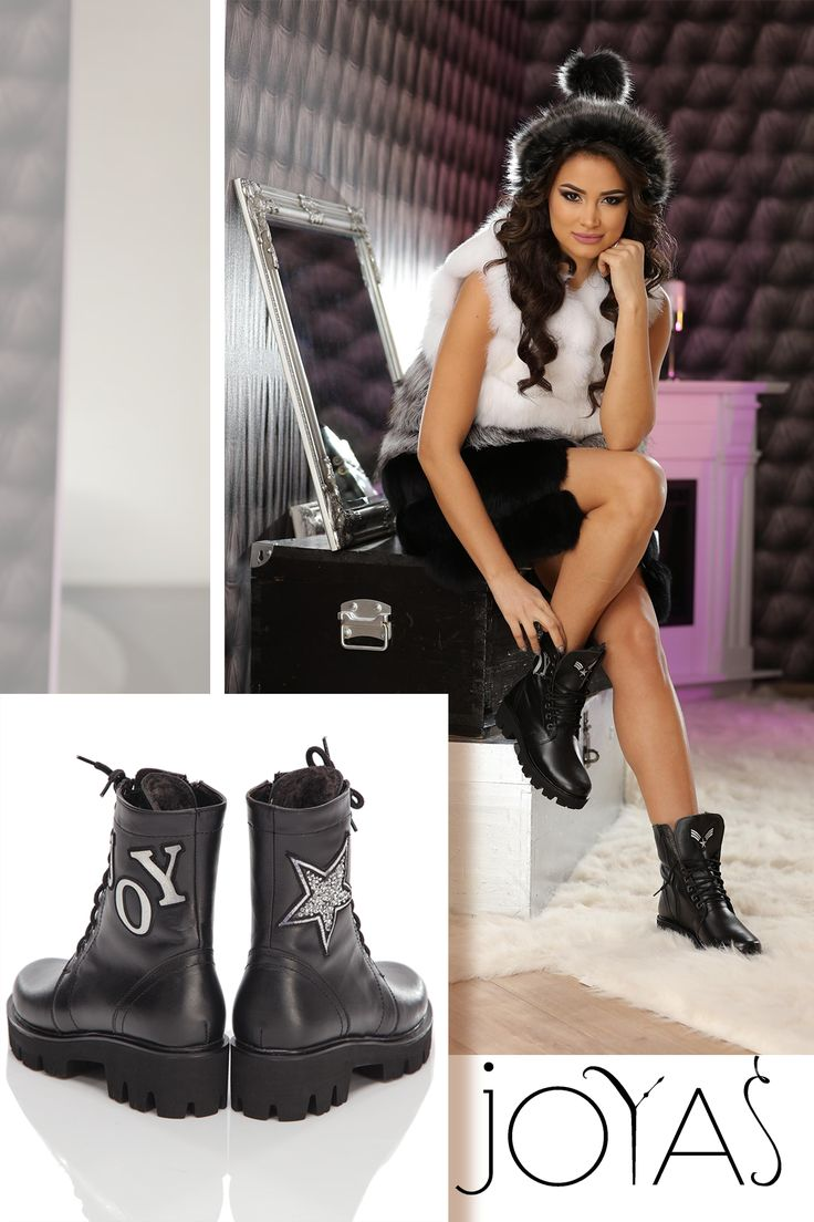 The chic, warm and comfortable Joy boots made of natural leather in black hue, are perfect this winter @j