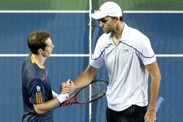 Andy Murray and Ivo Karlovic