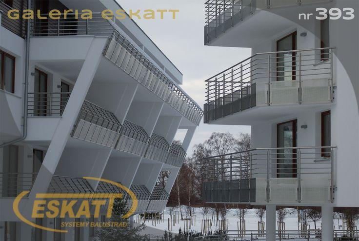 Bent stainless balustrade with horizontal filling #balustrade #eskatt #construction #balcony