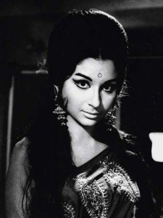 Sharmila Tag or. You can't say Sharmila Tagore and not have the iconic 60s bouffant come to mind! I'm think she may have single handedly popularized the hairdo in India...