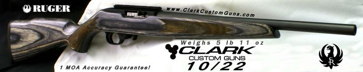 Clark Custom Ruger 10/22 built for YHEC 4-H competition Weighs only 5 lb 11 oz http://www.clarkcustomguns.com/1022con.htm