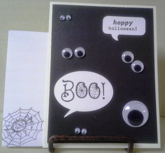 Handmade Halloween Card with Eyes