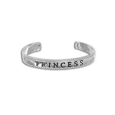Sterling Essentials Sterling Silver 'Princess' Adjustable Baby Cuff Bracelet Evalue Jewelry. $44.99