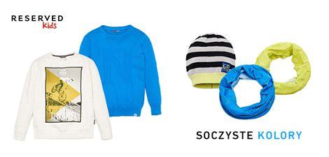 Limonka czy soczysty niebieski? Możecie też połączyć oba kolory.  Zapraszamy do Reserved Kids w GH Sky Tower. >> http://bit.ly/ReservedKidsAkcesoriaDlaChlopcow