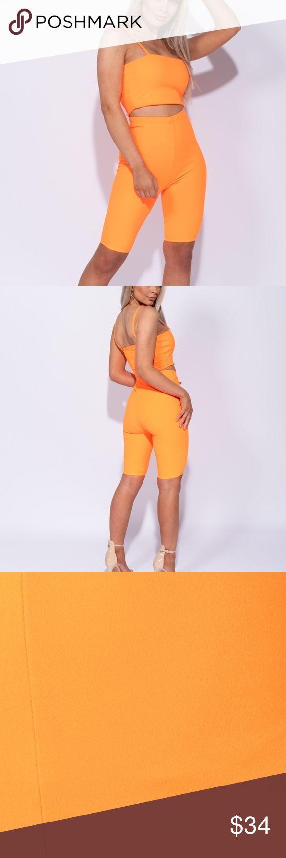 Neon Orange High Waist Stretchy Biker Shorts Your summer wardrobe will not be co…   – Biker Shorts