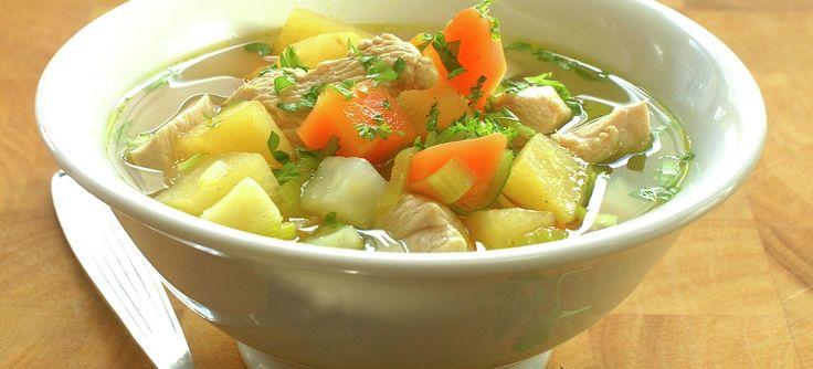 Grønnsaksuppe med kylling