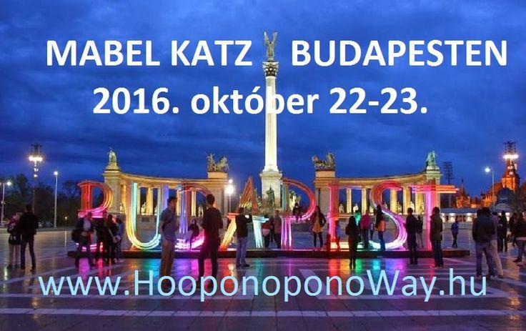 MABEL KATZ ÚJRA BUDAPESTEN!  2016. október 22-23., szombat-vasárnap Mindkét napon 11-19 óra között. Regisztráció: 9:30 órától, a kinyomtatott, Mabel Katz által megküldött elektronikus számlával vagy a Suerte Bt visszaigazolásával.  Helyszín: Novotel Budapest Centrum, 1088 Budapest, Rákóczi út 43-45. Tel : +36 (1) 477 54 73 (A Blaha Lujza tértől egy percre, a Keleti pu. felé; 2-es METRÓ Blaha Lujza téri megálló) Minden info itt: http://bit.ly/2b3EWou
