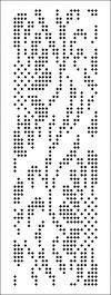 Gallery of punched cards for knitting machines 3 and Class 5 (SILVER REED, BROTHER) with repeat loop 24