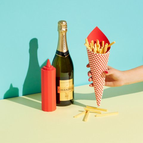 REVERBERE , papercraft, fires, champagne bottle